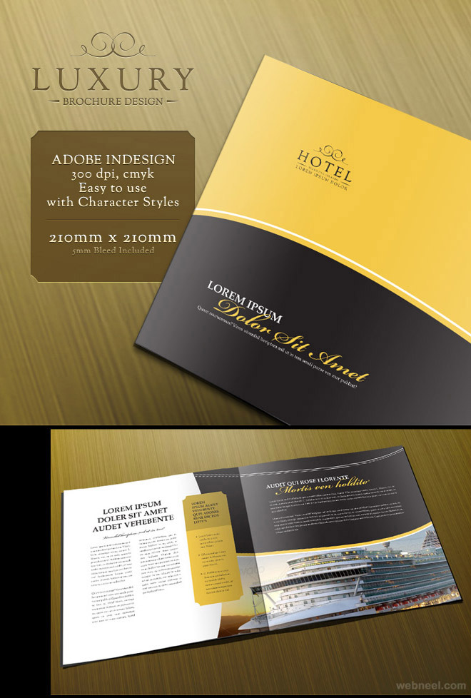 26 best and creative brochure design ideas for your for Hotel brochure design inspiration