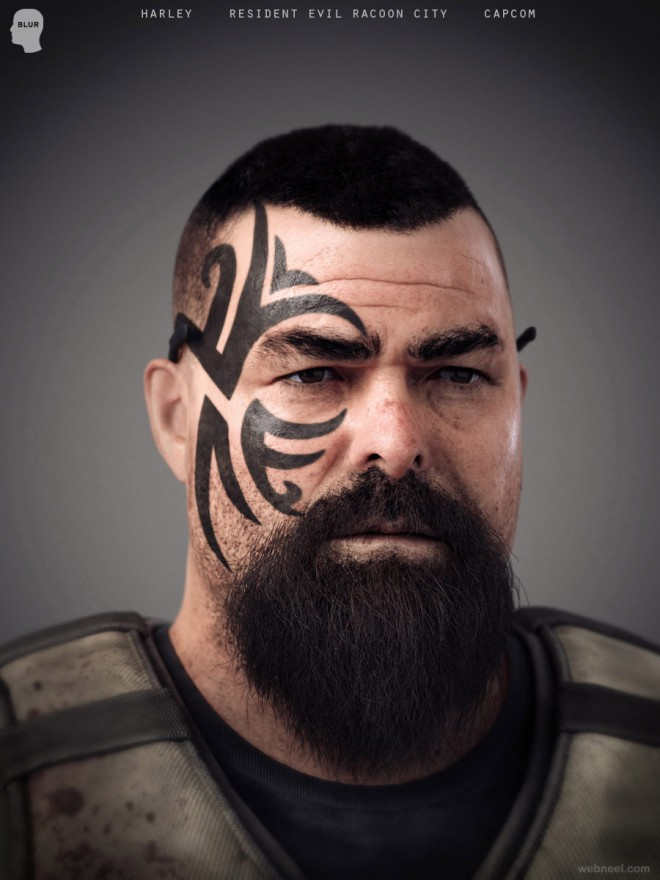 tattoo man cg character by believerdeceiv