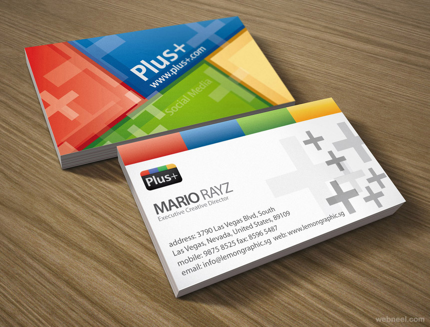 colorful business card design