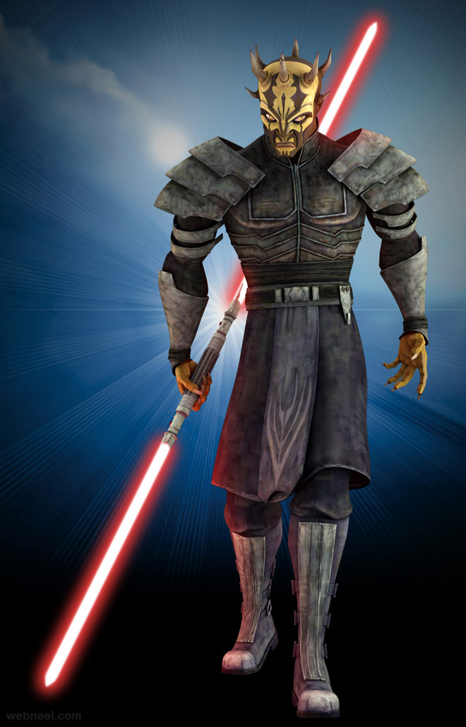 savage star war game characters 3d