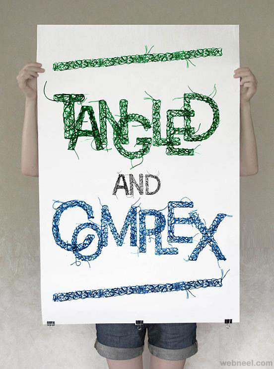 tangled and comrex creative typography