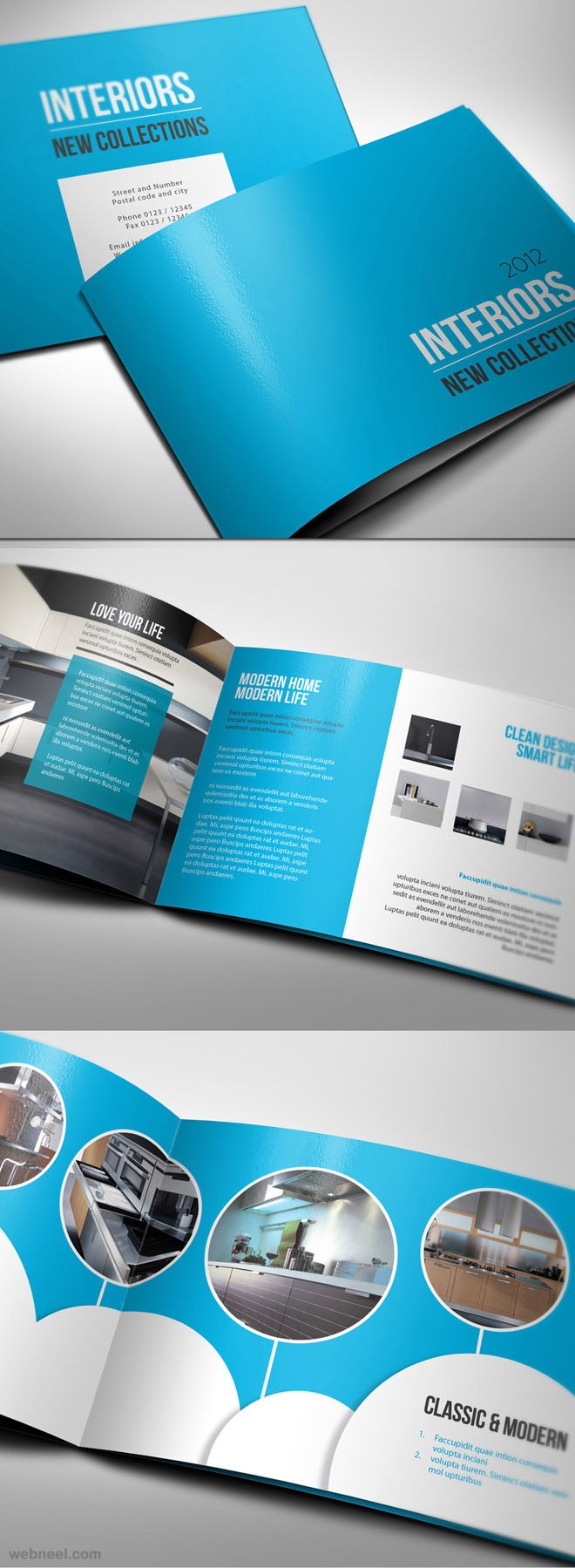 26 best and creative brochure design ideas for your for Best design household products