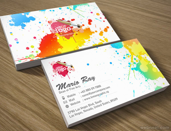 Colorful business card design 18 reheart Gallery