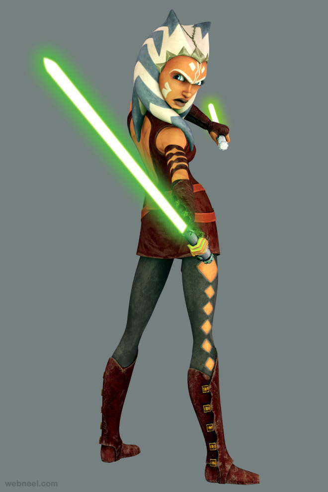 ahsoka star war game character 3d