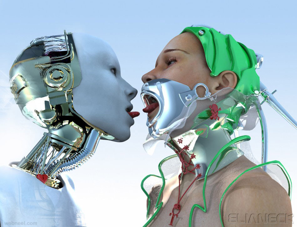 All Inspiration: webneel.com/daily/19-kissing-robot-sci-fi-cg-character-eliane
