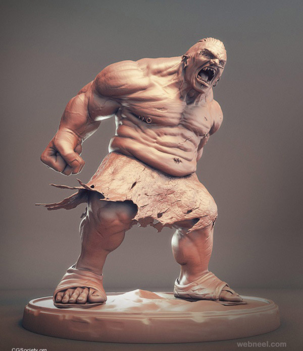3d monster character jesse sandifer