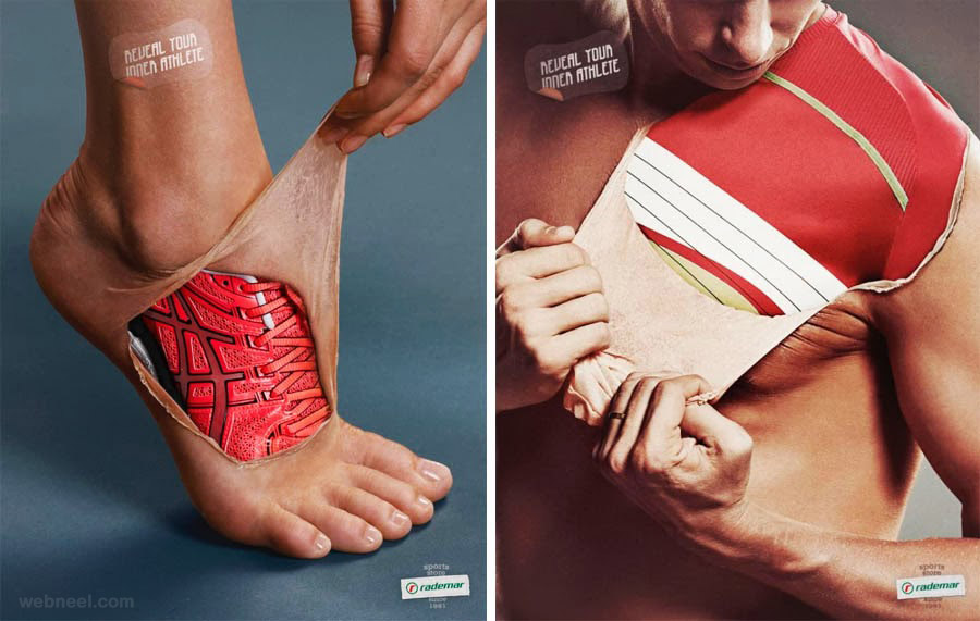 rademar shoe sports creative advertising