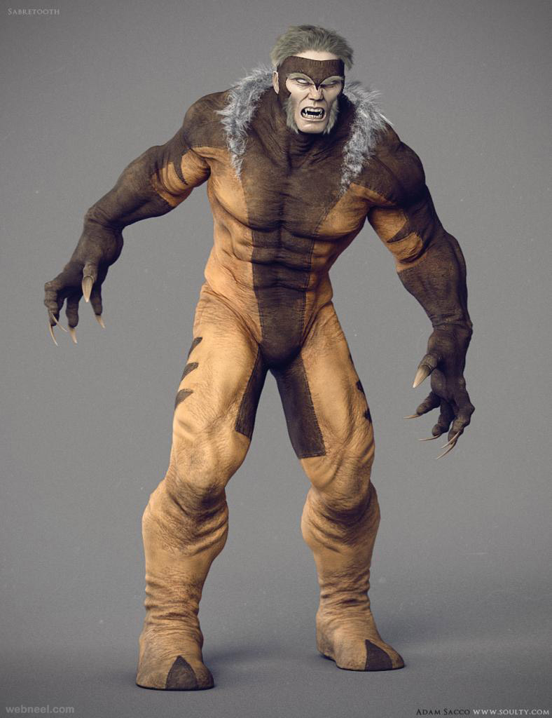 3d monster model design