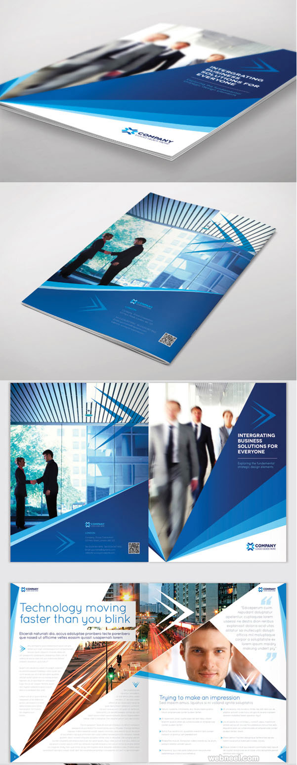 26 best and creative brochure design ideas for your for Brochure design layout ideas