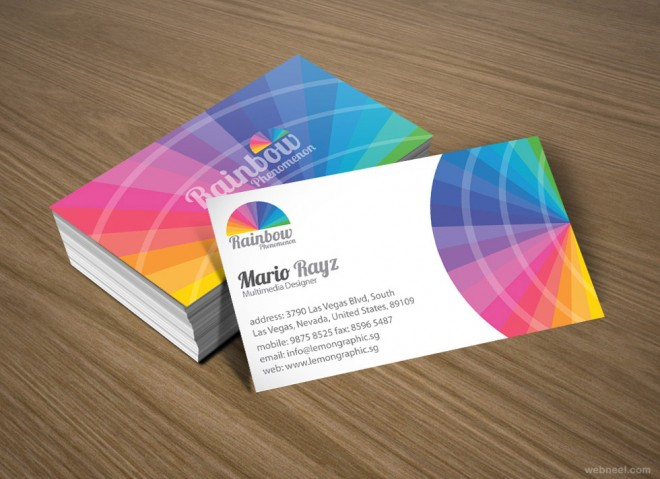 colorful business card design 5
