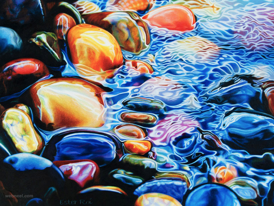 Artists Who Paint Pebbles Photorealism