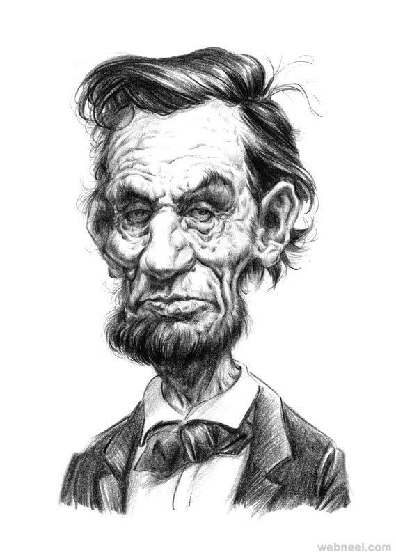Clip Art: Abraham Lincoln Caricature (Color) Abe Lincoln U.S ...