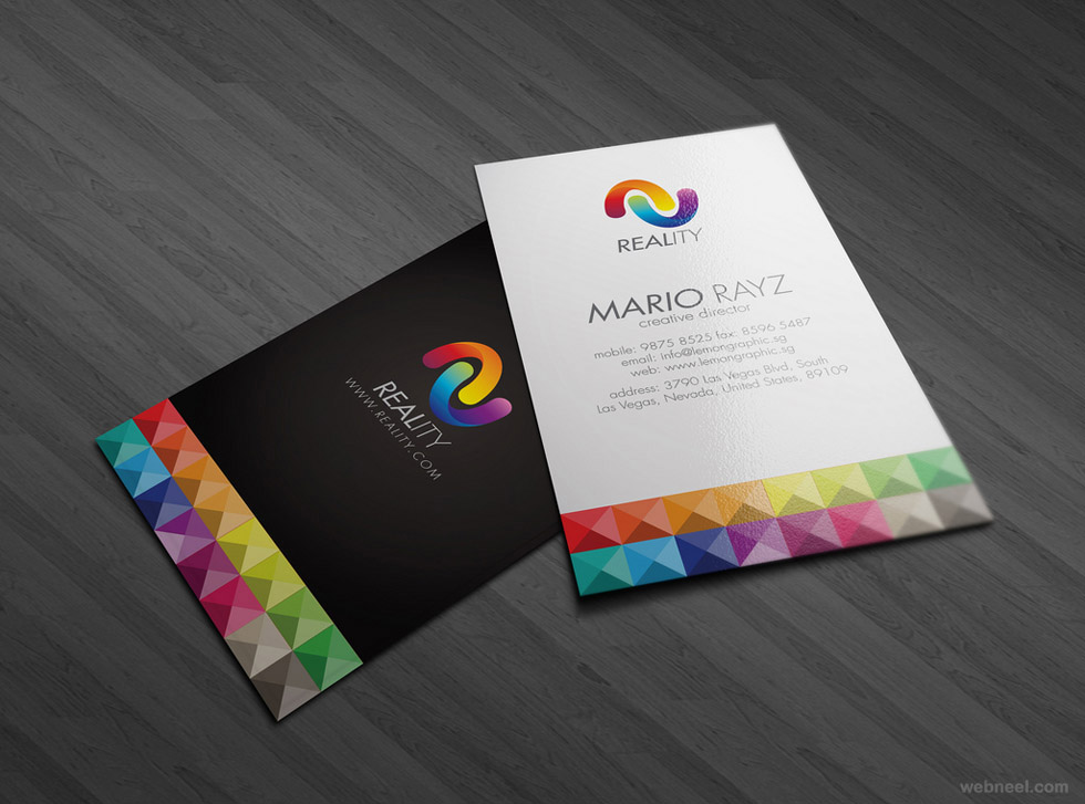 Custom Card Template design a business card : colorful business card design 8