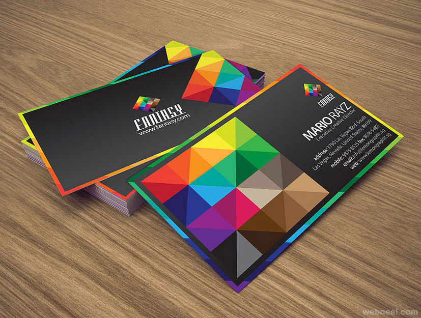 colorful business card design 9 - Full Image