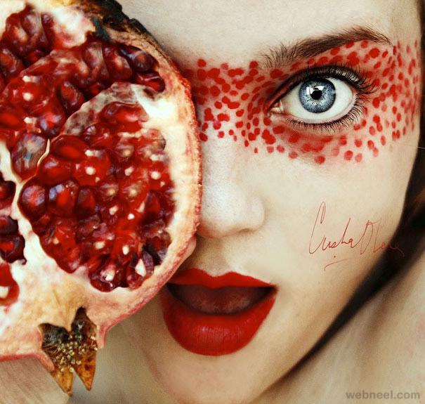 self photography fruit