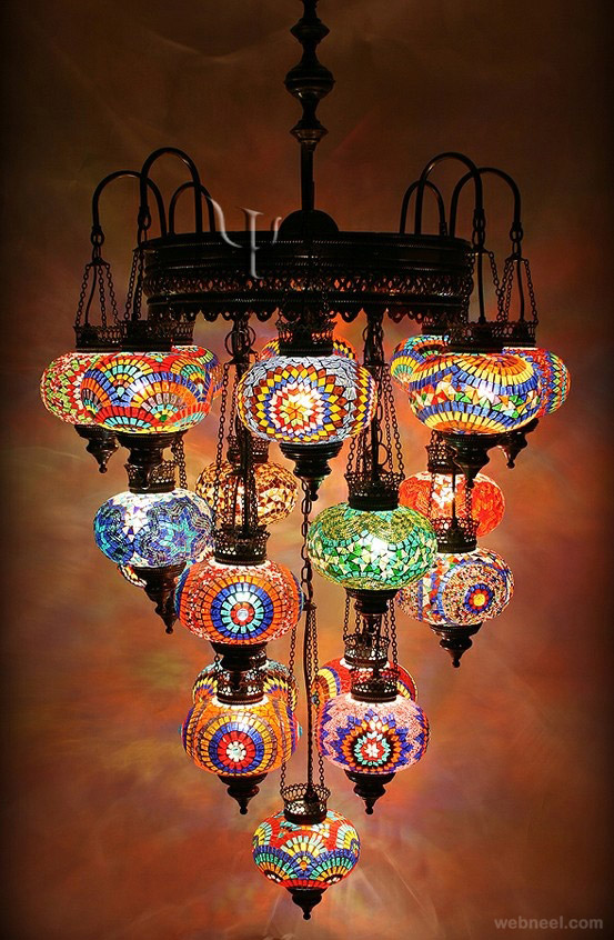 Creative colorful lamp design for Creative lamp ideas to make at home