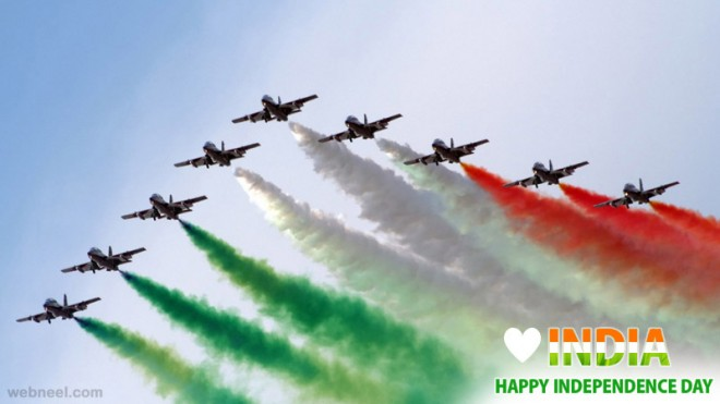 happy independence day greeting card