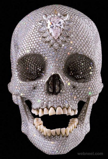 skull decor gems