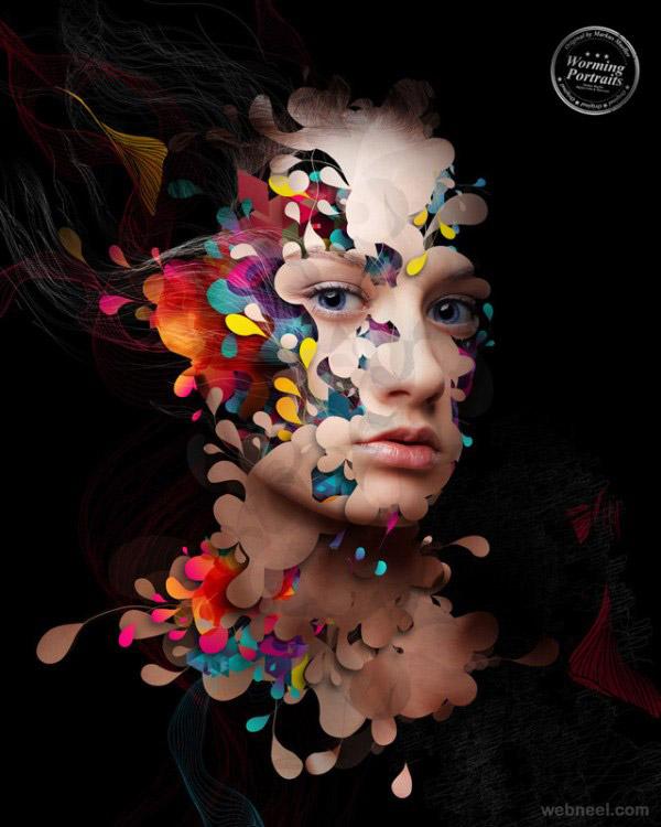woman face creative photo manipulation