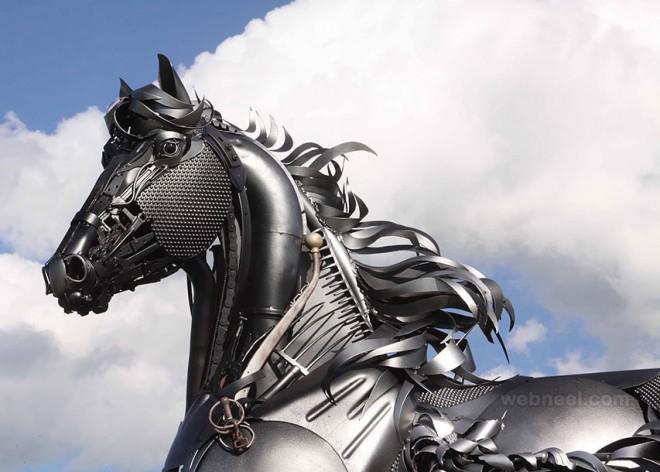 metal sculpture scrap