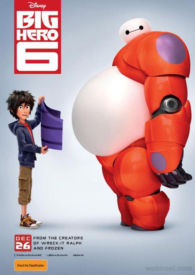 big hero 3d movie poster