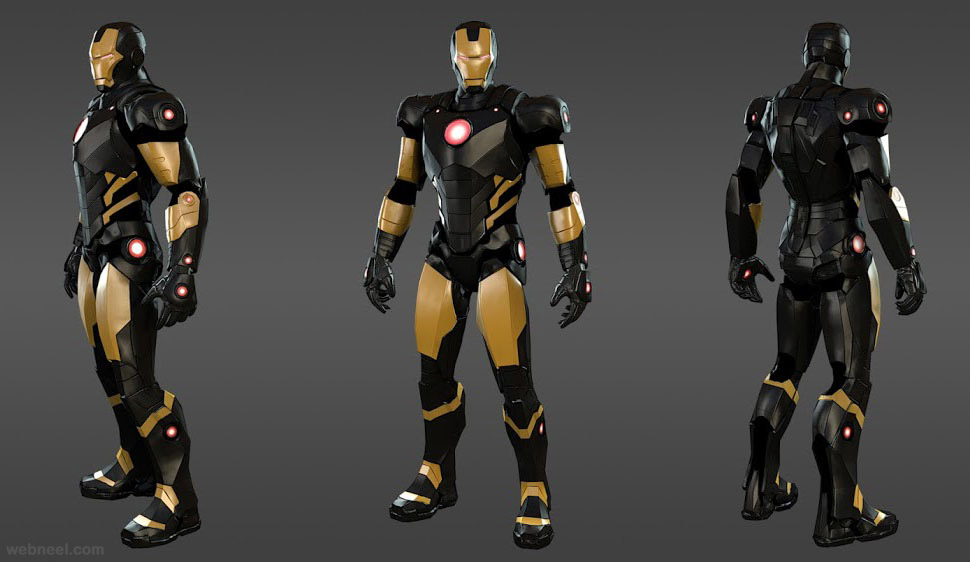 3d marvel heroes ironman