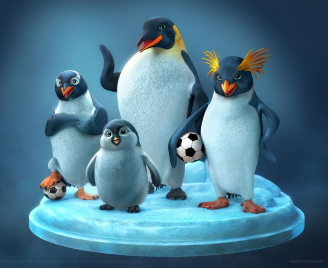 3d penguin animal model