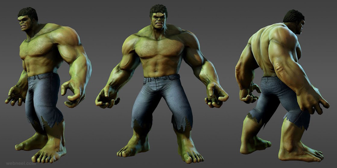 3d Models Marvel Heroes Hulk Avengers 13 Full Image: 3d model sites
