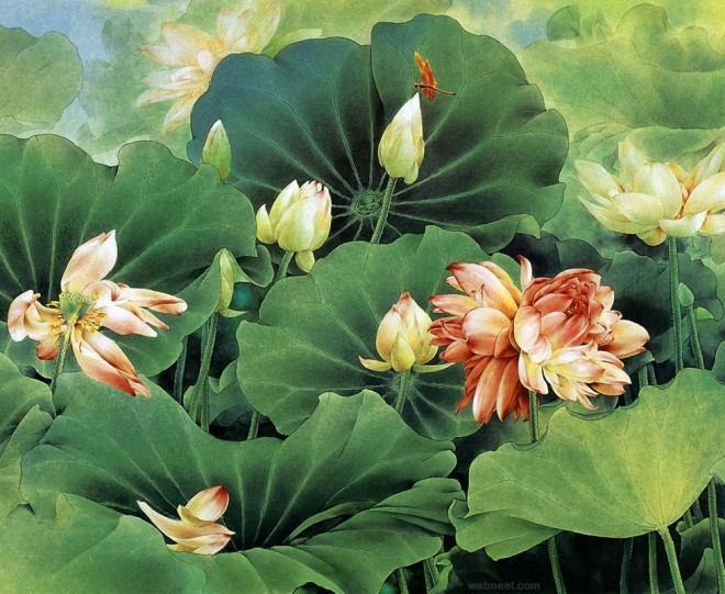 chinese painting lotus