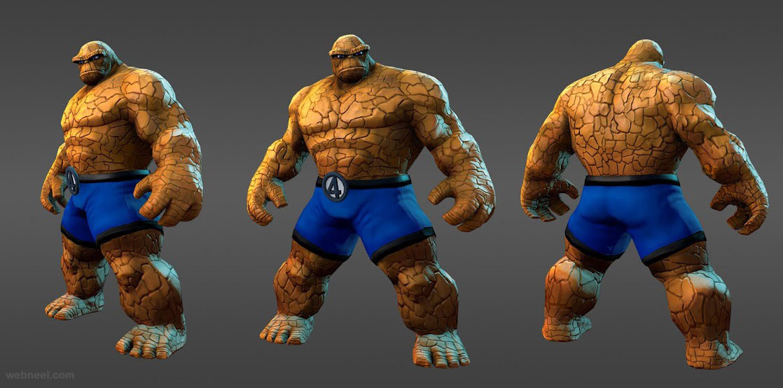 3d marvel character heroes thing