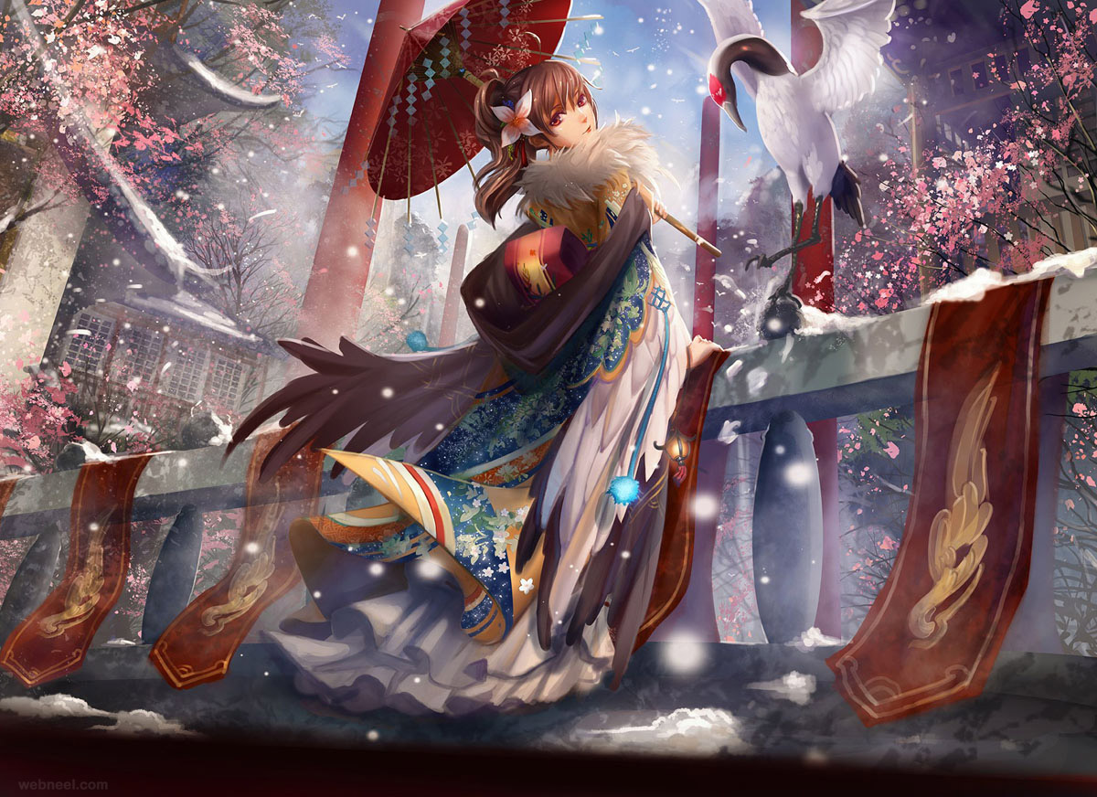 chinese digital art girl fantasy