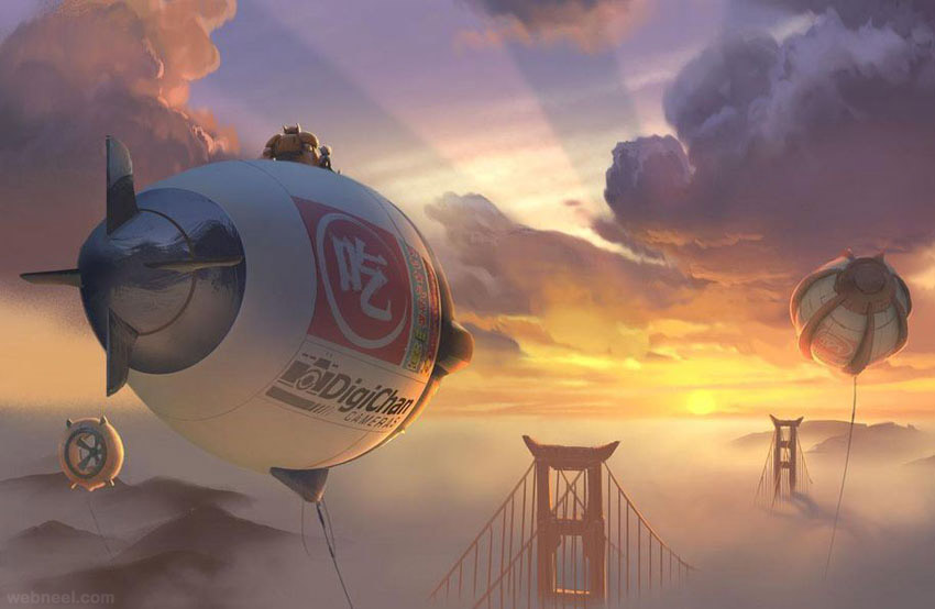 big hero 6 animation movie scene