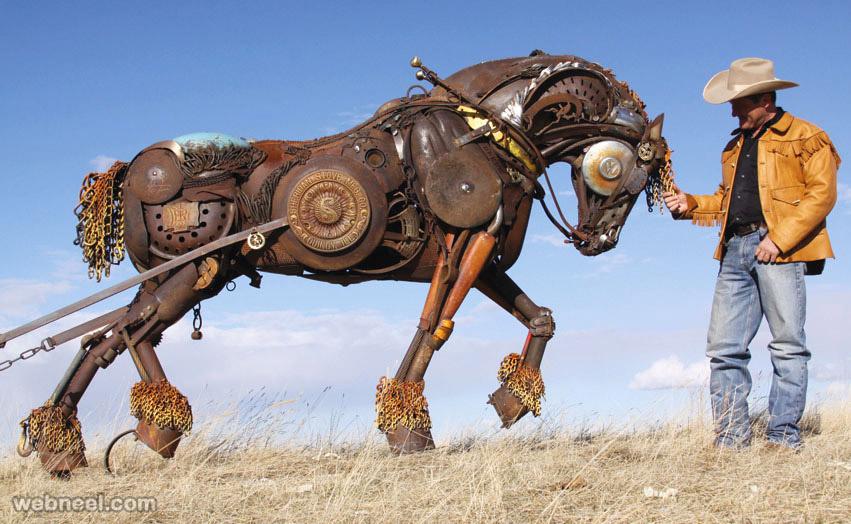 scrap metal sculpture lenyon
