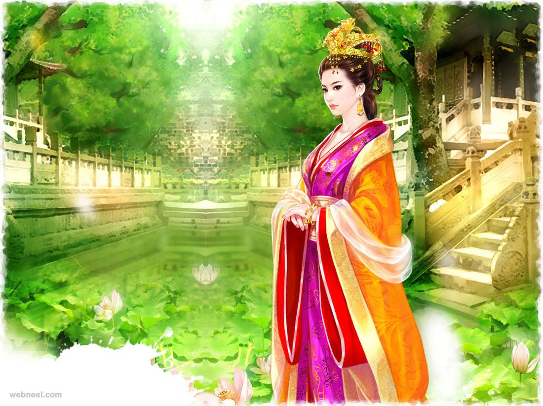 chinese painting girl