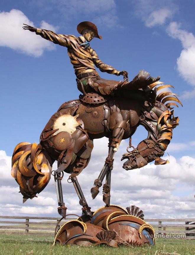 scrap metal sculpture