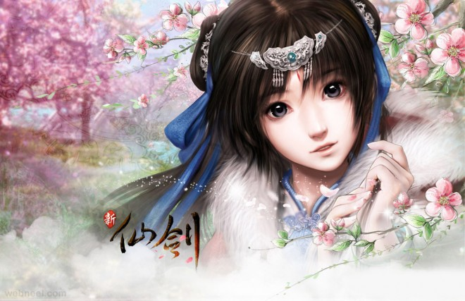 chinese painting girl