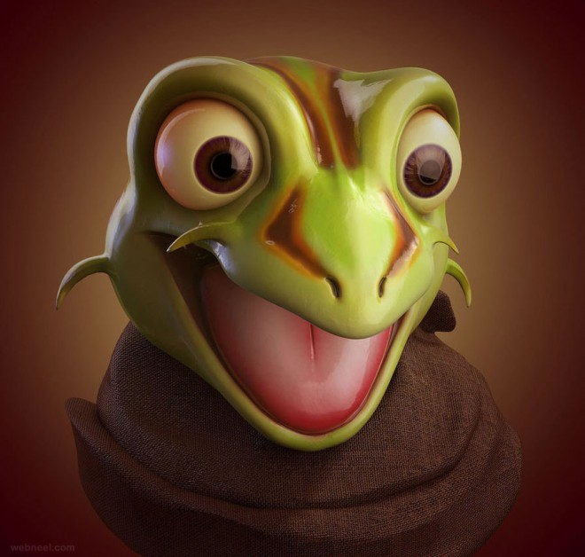 3d frog character catetas
