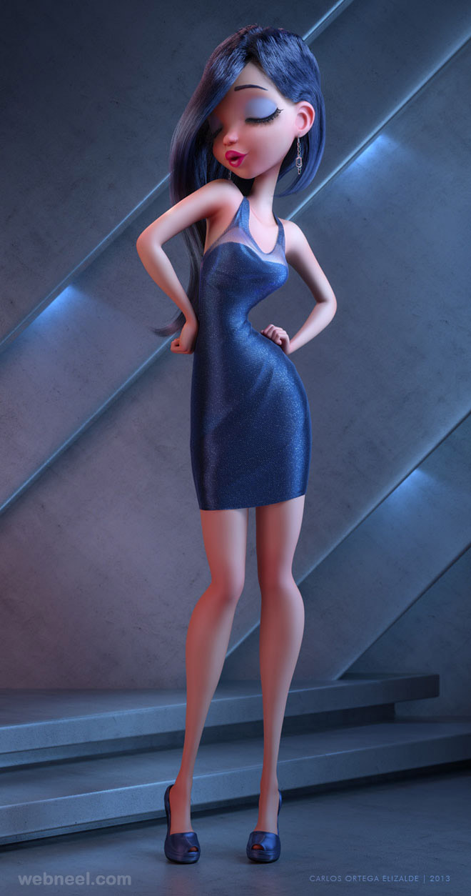 3d girl model by carlosortega