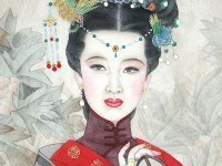 7-chinese-painting-silk-girl-old