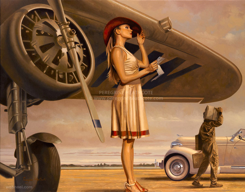 military oil paintings peregrine
