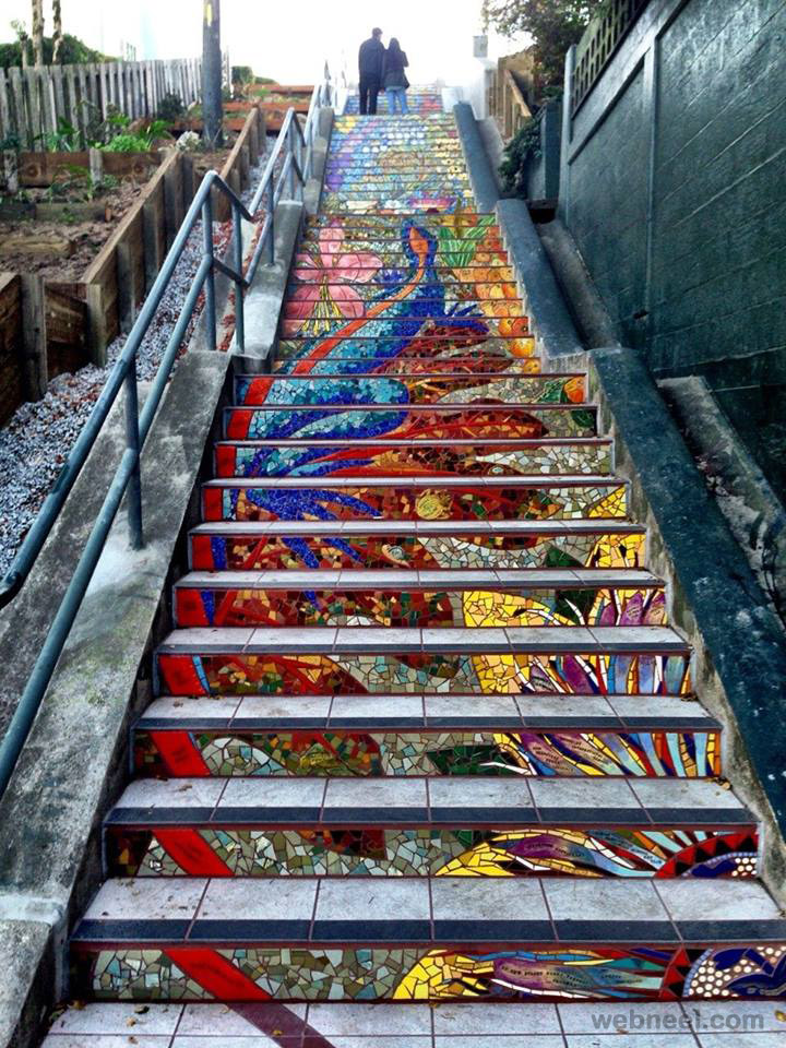 staircase mural art