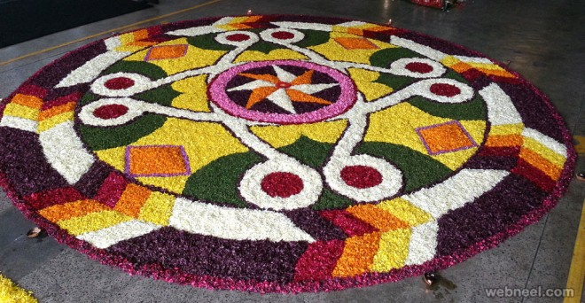 beautiful pookalam star