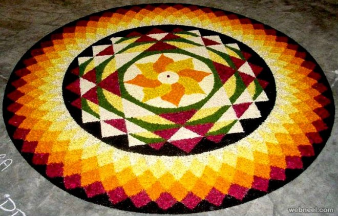 onam pookalam beautiful