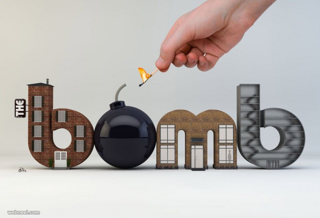 3d typography design by jonbuckley