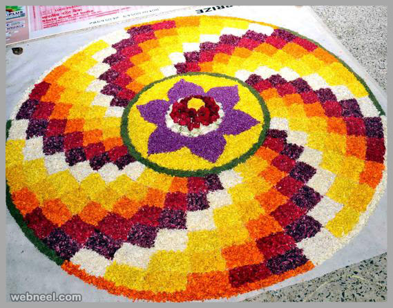 25 Most Beautiful Pookalam Designs For Onam Festival