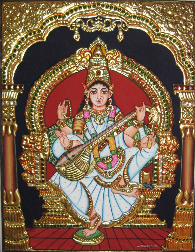 25 Beautiful Tanjore Paintings Traditional Indian