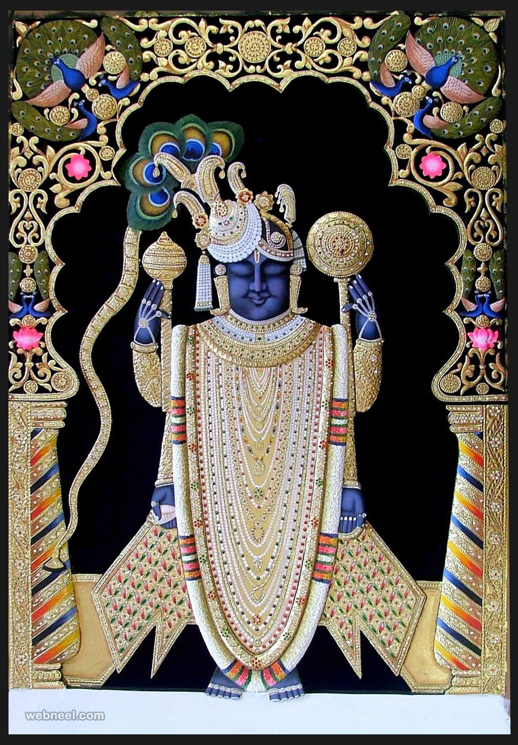 tanjore painting guruvayur krishna