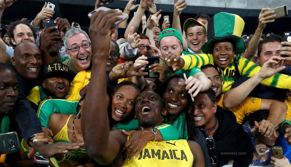 usain bolt selfie best rio olympic photography