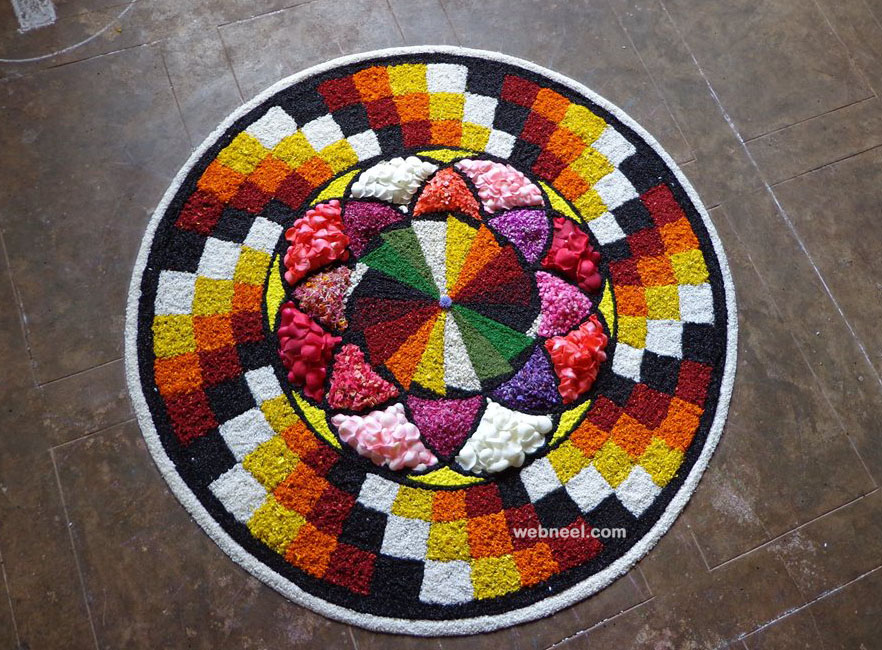 onam pookalam design art