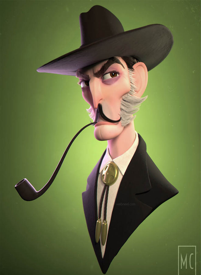 3d cartoon man model by meganchocholek